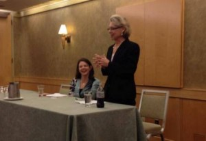 Governor Gregoire speaking to the YDA Women's Caucus.