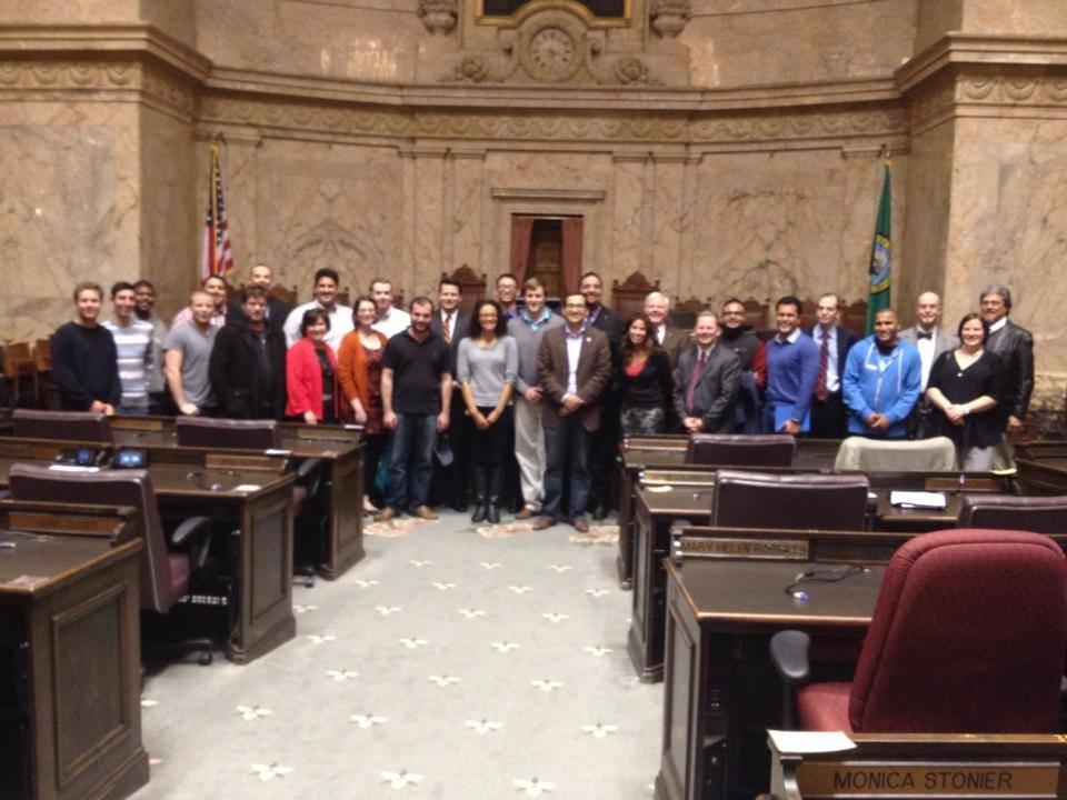 Young Democrats tour the WA State Legislature.
