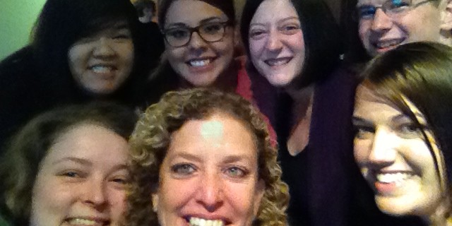 Congresswoman and DNC Chair Debbie Wasserman Shultz was the best Selfie taker ever! She didn't like our first attempt at a #CongressionalSelfie, and stuck around until we got the perfect shot