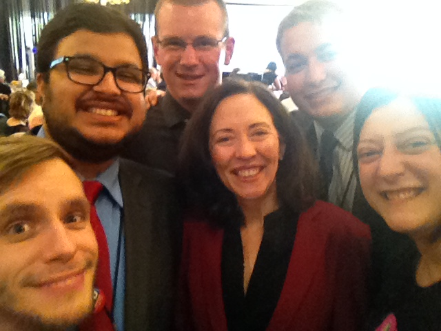 Sen. Maria Cantwell joined YDWA for a #CongressionalSelfie at Democratic State Convention banquet in Spokane