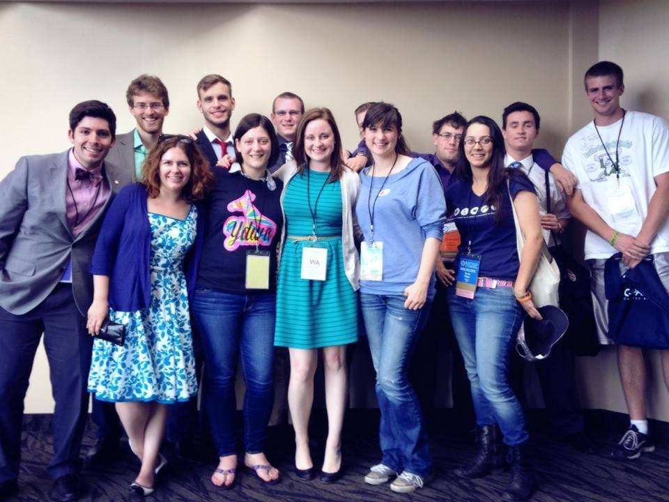 2014 Washington Dems Convention caucus meeting group photo