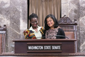 Senator Pramila Jayapal with staff