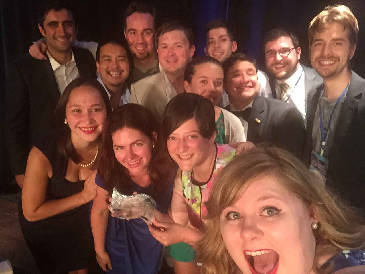 "It wouldn't be YDWA without a convention selfie - here we are celebrating being awarded ""Best ongoing event"" for our Paint the Town Blue series."