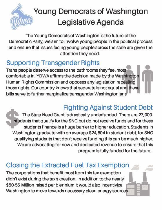 YDWA Legislative Agenda