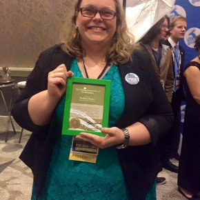 Melissa Boles right after winning Young Democrat of the Year!